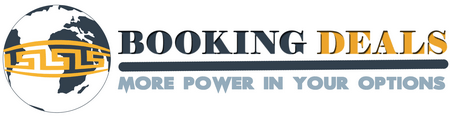 Our logo of BookingDeals.gr to recognize as your booking search deal provider